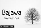 Bajawa Font