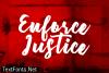 Enforce Justice Font