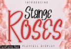 Stange Roses A Playfull Display Font