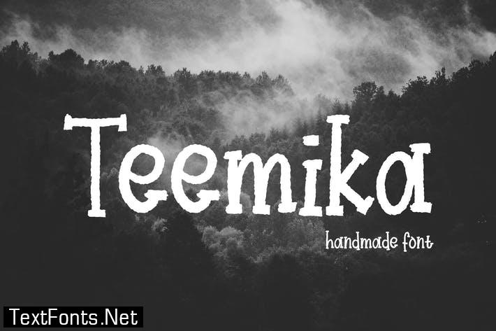 Teemika - Handwritten Font