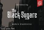 The Black Sugare Font