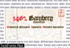 1462 Bamberg Font