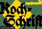 Koch Schrift Font