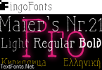 Maier's Nr. 21 Pro Font