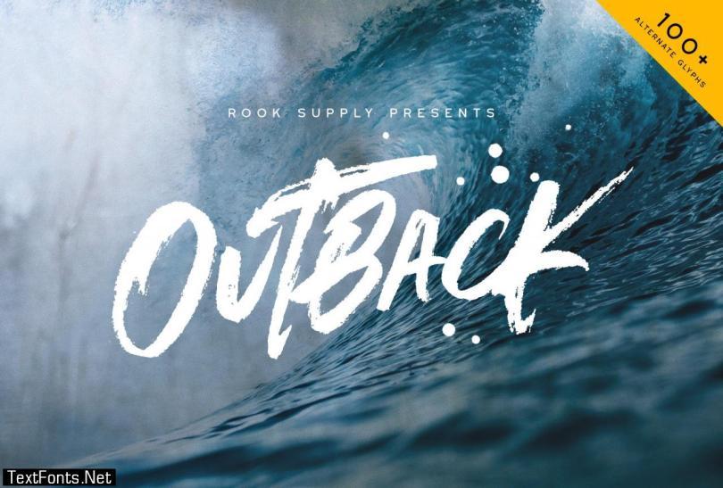Outback Brush Font 2946455