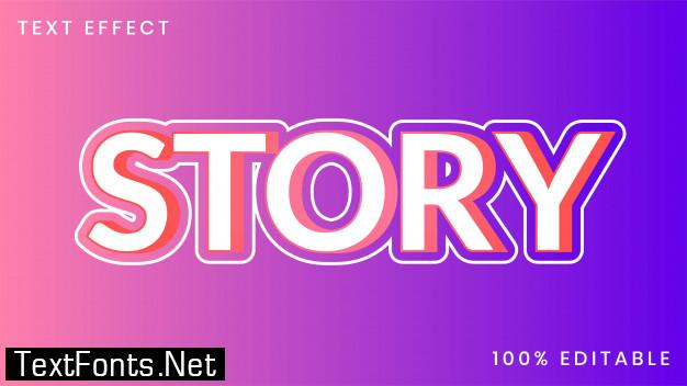 Story text style effect