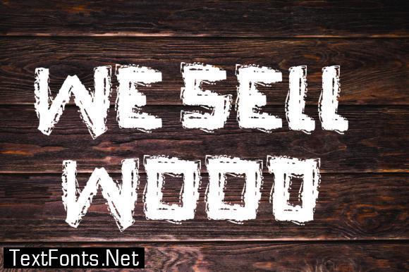 Wood Cut Font