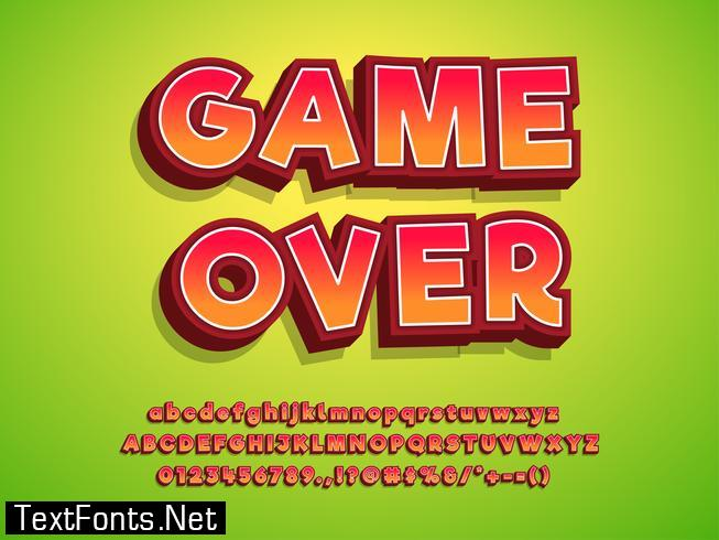 3d Typeface Game Logo Tittle Text Effect