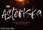 Asteriska Font