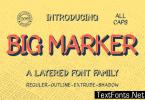 Big Marker Family Font