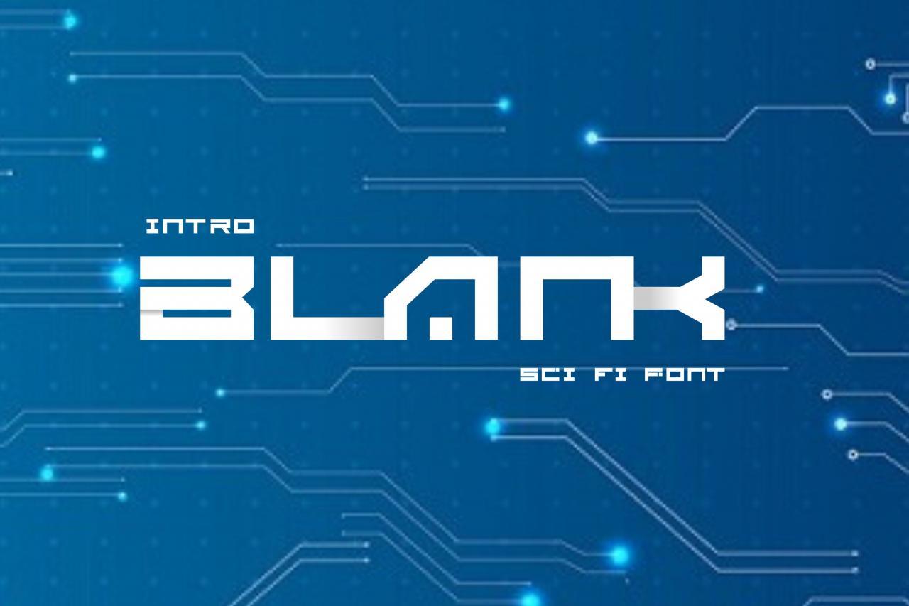 Blank Sci Fi Font 2078874