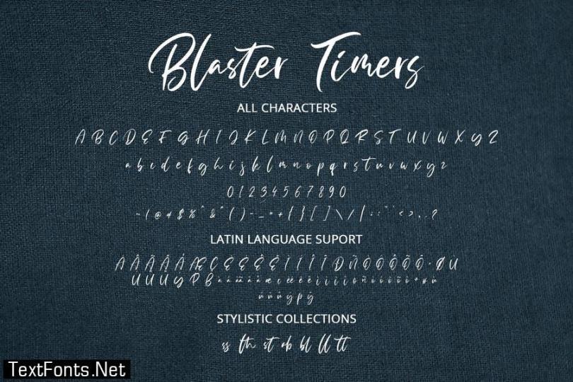 Blaster Timers Font