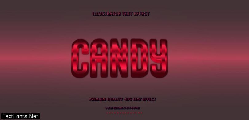 Candy Red Editable Text Effect