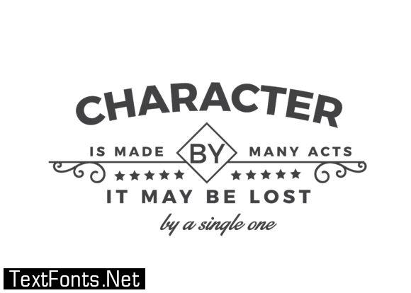 Character is Made by Many Acts - Typography Graphic Templates