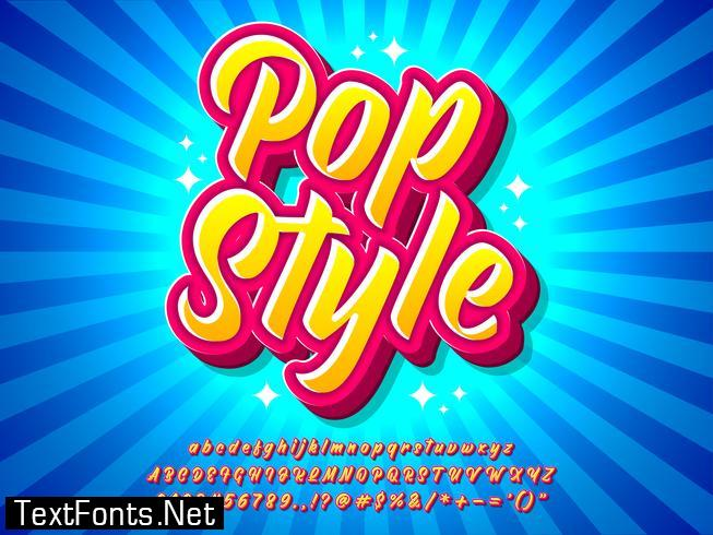 Colorful Pop Art Text Effect With Comic Style