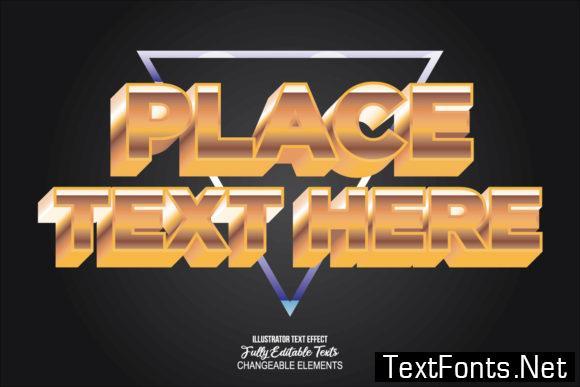 Detailed Text Effect Modern 3d Design