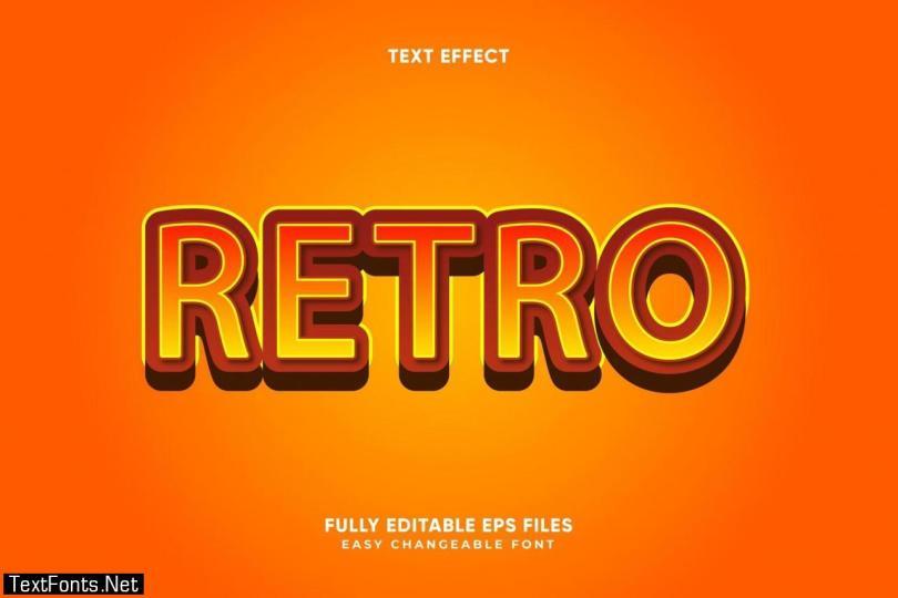 Editable Retro text effect