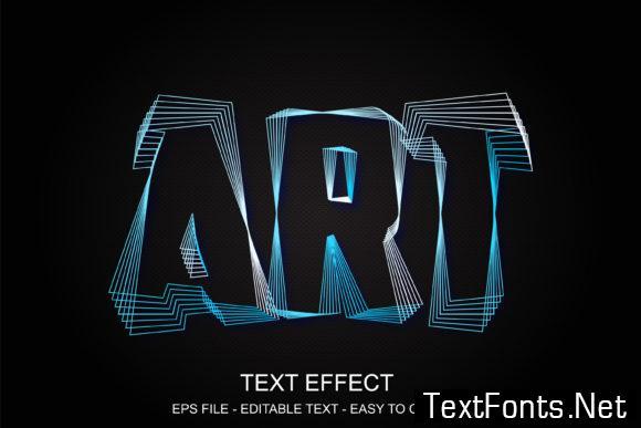 Editable Text Effect Art Line Style