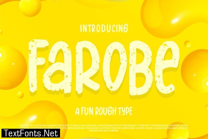 Farobe | A Fun Rough Type