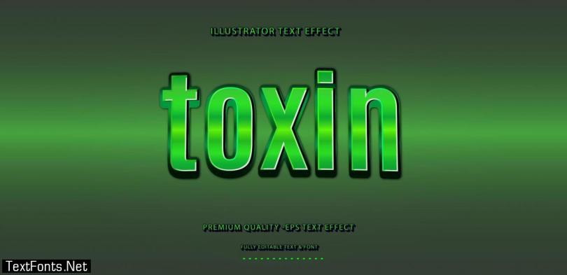 Green Toxin Text Effect