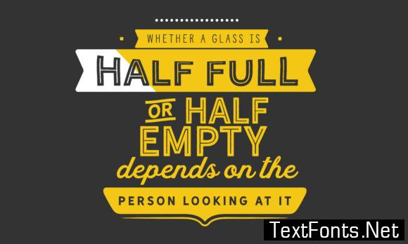 Half Empty Depends on the Attitude - Typography Graphic Templates
