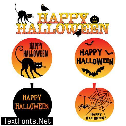 Halloween graphic with orange gradient effect