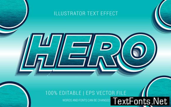 Hero Text Effect Style