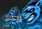 Intimidating Blue Fox Demon Esport Logo AS272HK