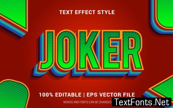 Joker Text Effect Style