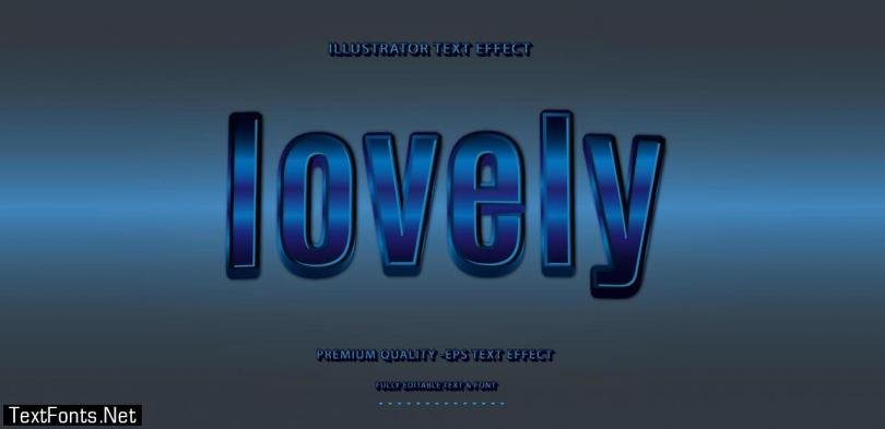 Lovely Blue Text Effect