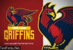Mascot Griffin for sport and esport logo