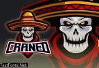 Mexican Skull Esport Logo