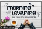 Morning Lovening Font
