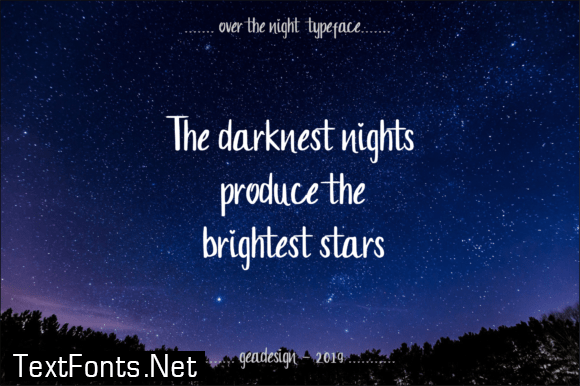 Over the Night Font
