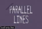Parallel Lines Font