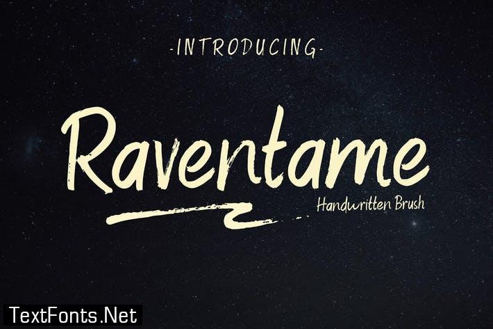 Raventame Handwritten Brush Script