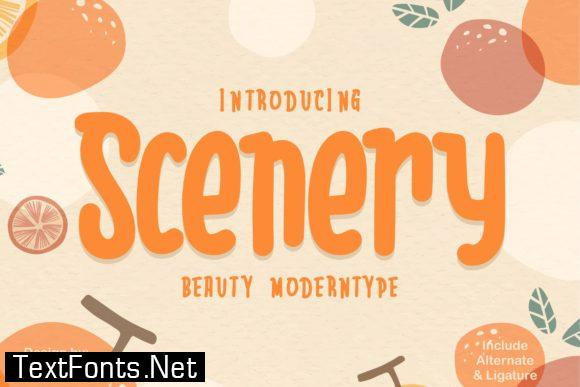 Scenery Font
