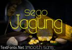 Sego Jagung Font