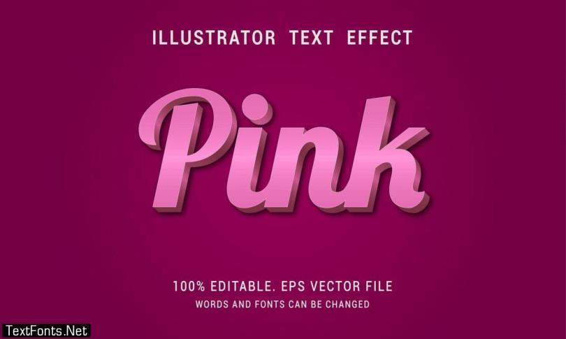 Shiny Pink Unique Text Effect