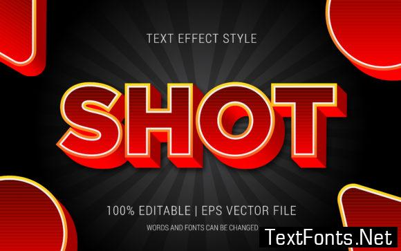Shot Text Effect Style