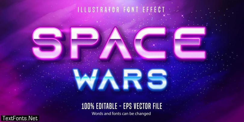 Space war text effect