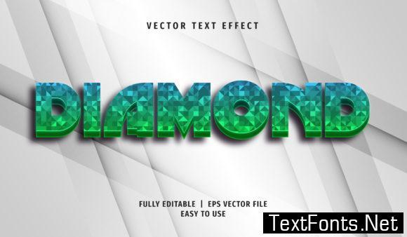 Text Effect - Diamond Text Style