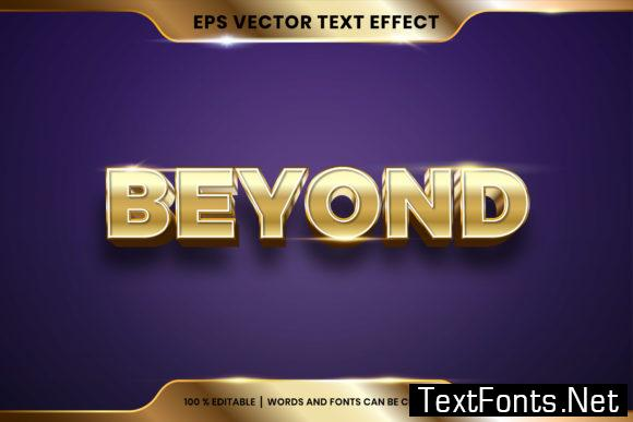 Text Effect in 3D Beyond Words
