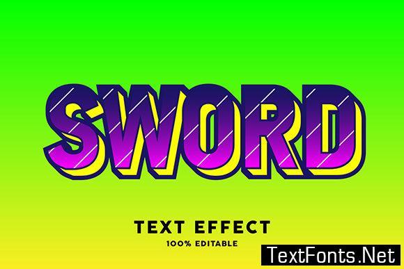 Text Effect - Modern Style Pop Art
