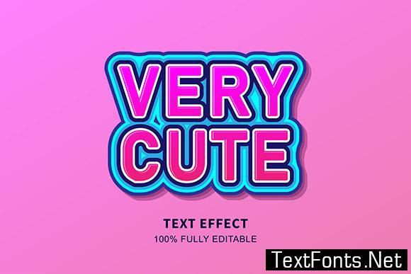 Text Effect - Very Cute Sticker