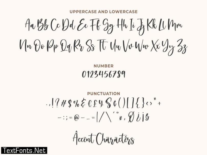Valerina YH - Modern Calligraphy Font