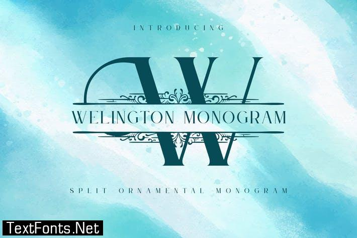 Welington - Split Monogram Font