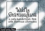 Wildly Extravagant Font