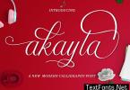 Akayla Script Font