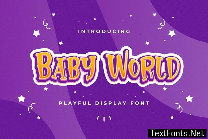 Baby World - Playful Display Font